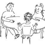 Beratungsgespräch von Eltern mit Beraterin